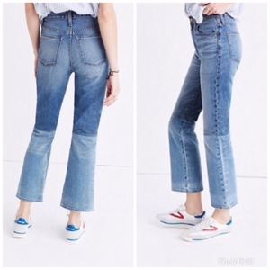 Madewell Retro Crop Bootcut Two Tone Jeans